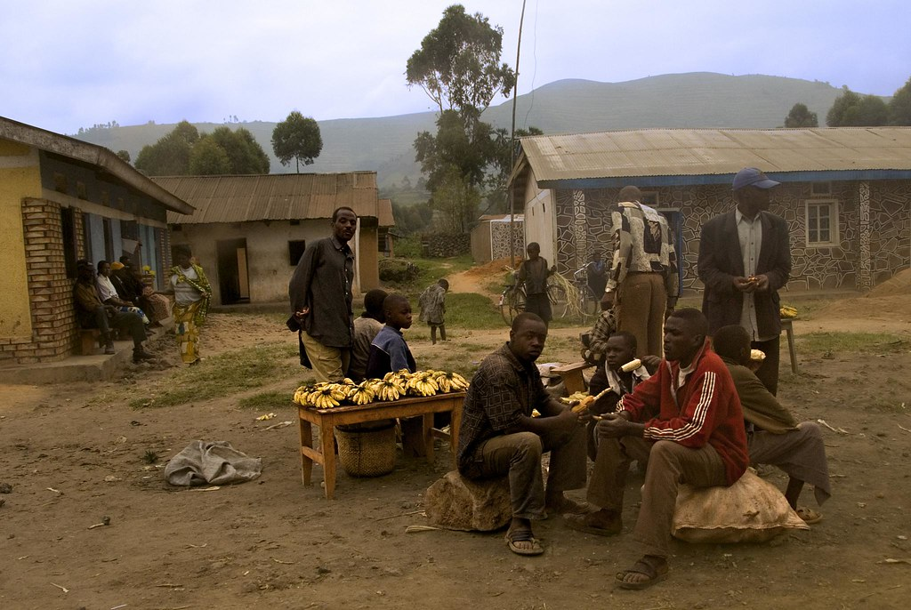Banana vendors in Uganda. Photo Credit: Flickr User youngrobv